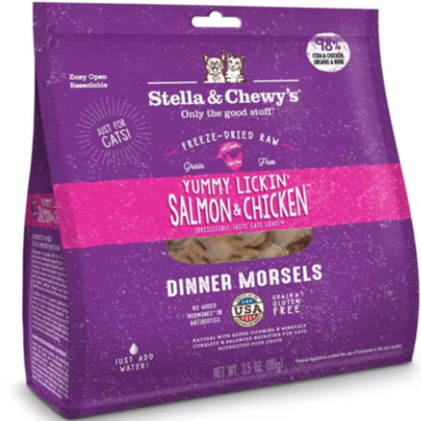 Stella & Chewy s Freeze Dry RAW-Salmon & Chicken-Cat-3.5oz-Dinner Morsels