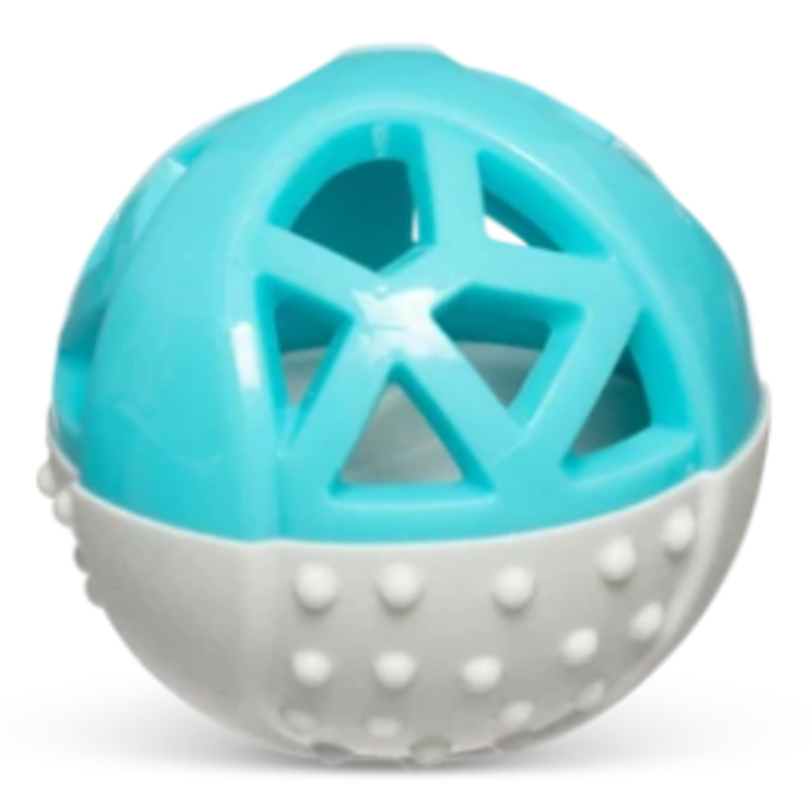 """Messy Mutts Totally Pooched Catch n' Squeak Ball, Foam Rubber, 3.5"""""""