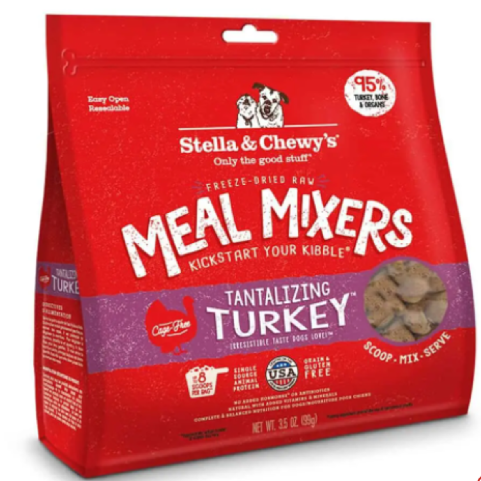 Stella & Chewy s Freeze Dry-Tantalizing Turkey-Meal Mixers-3.5oz