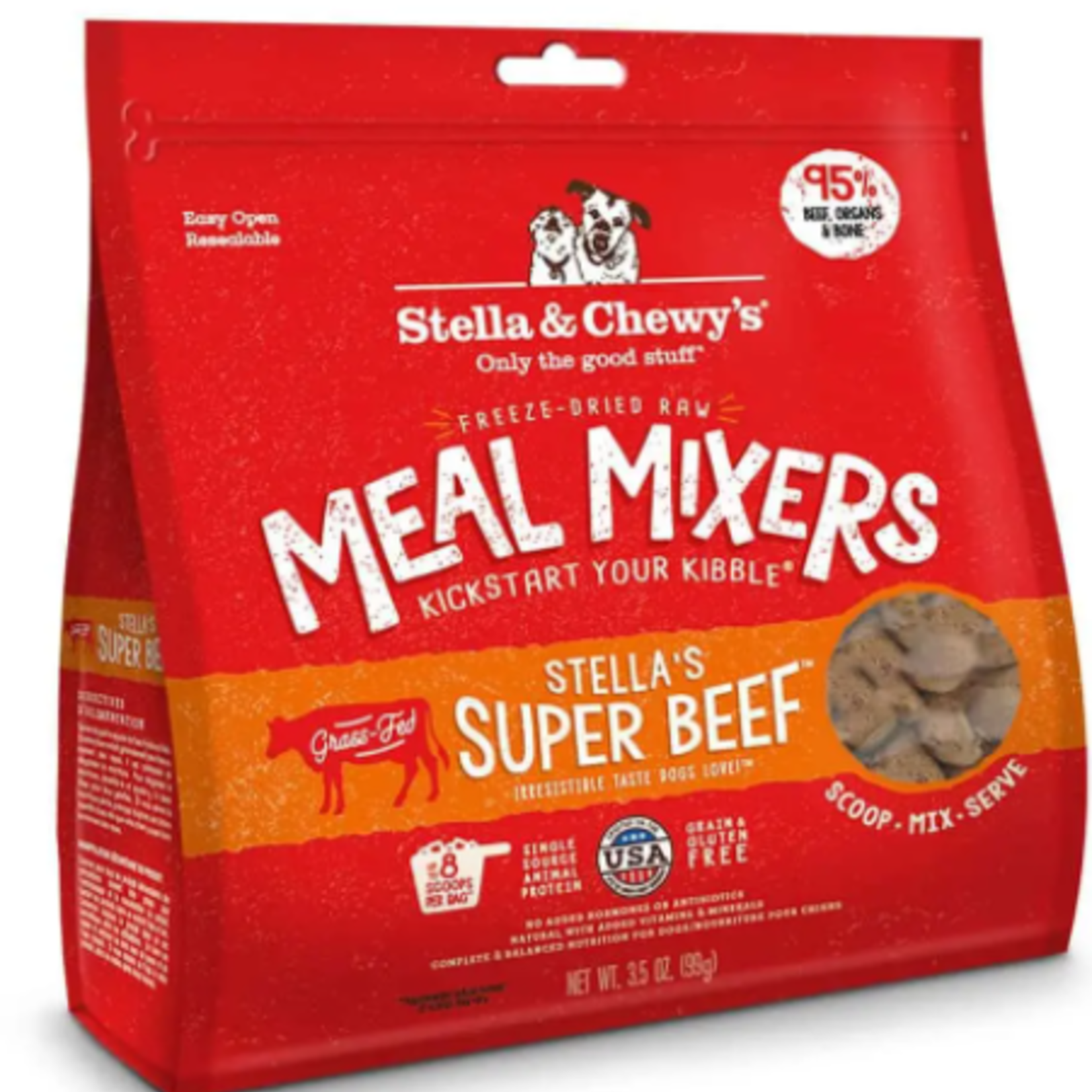 Stella & Chewy s Freeze Dry-Super Beef-Meal Mixers-3.5oz