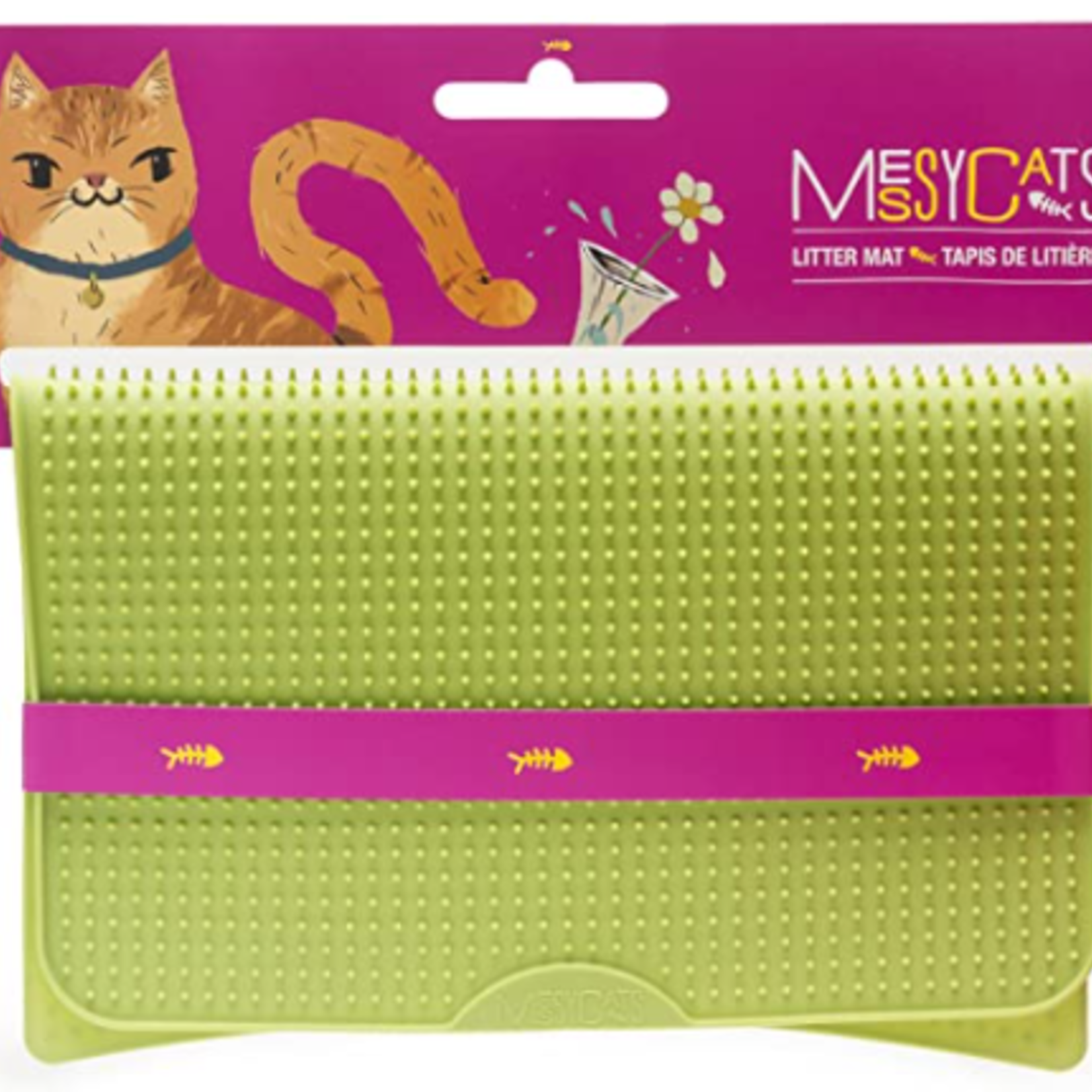 Messy Mutts Silicone Litter Mat with Graduated Spikes