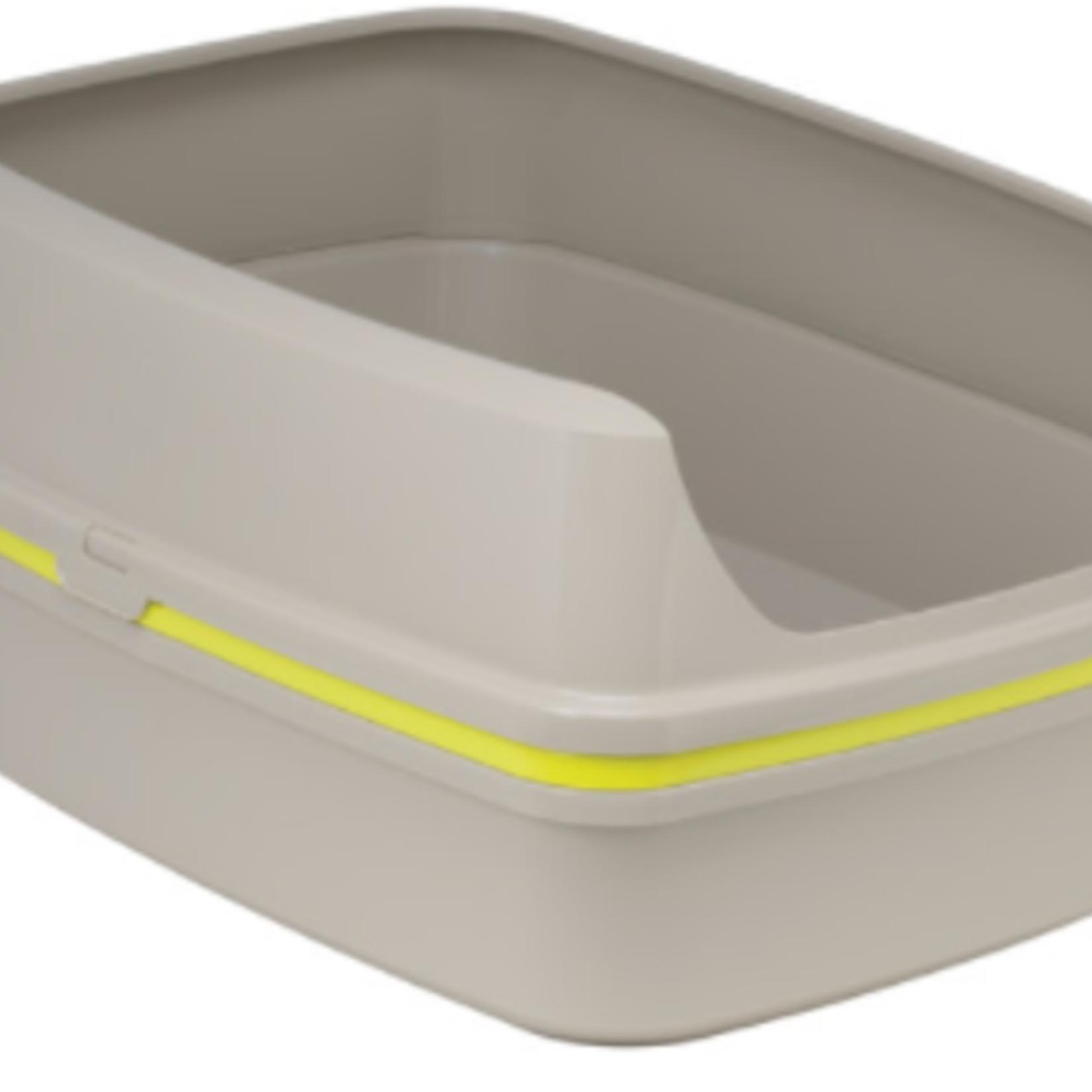 Moderna Litter Box-Lift to Sift-Jumbo-Warm Grey & Lemon