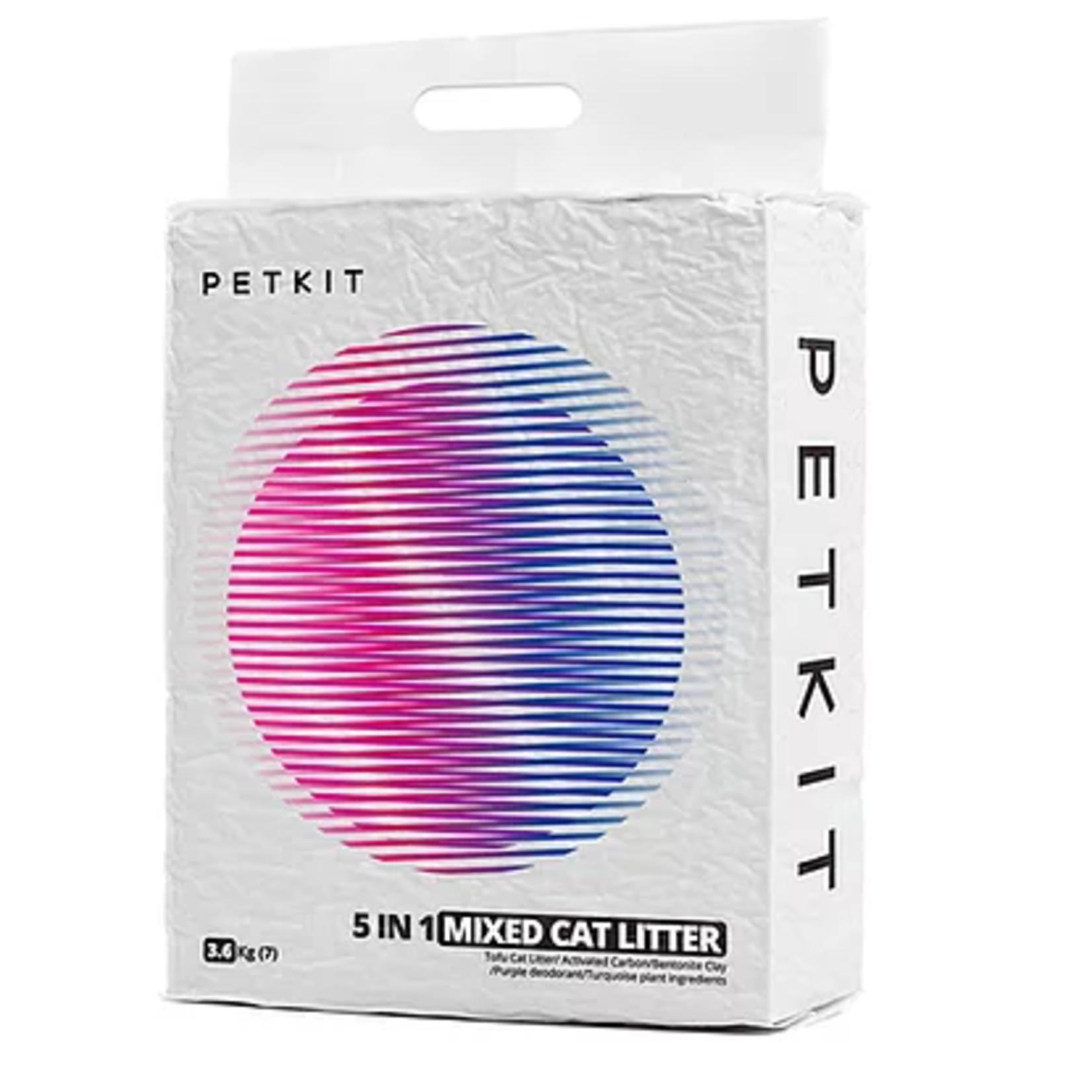 Petkit Mixed (5 in 1): Tofu Litter, Activated Carbon, Bentonite Clay , Purple deodorant , Turquoise plant ingredients