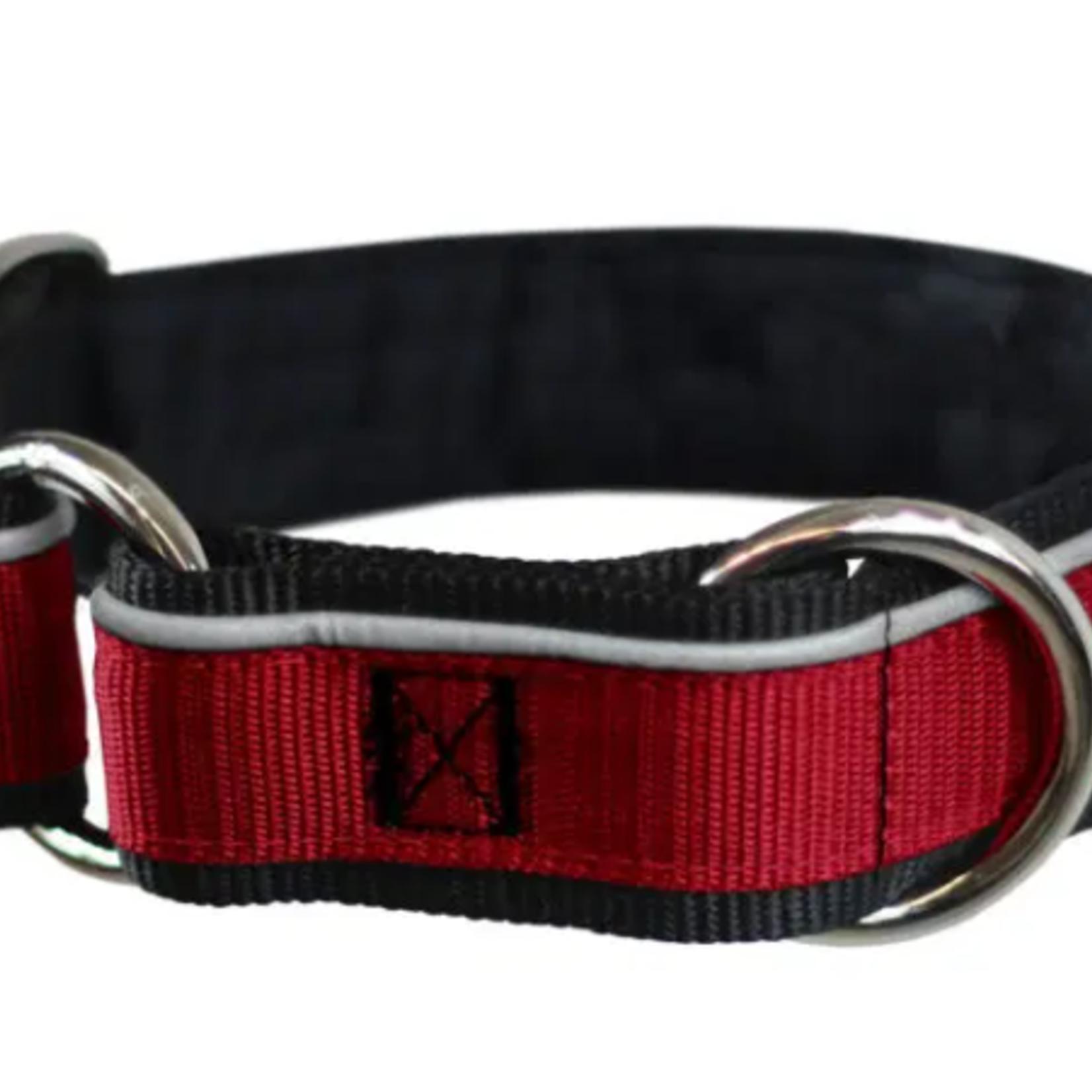 Nahak Padded Dog Collar With Reflective Band