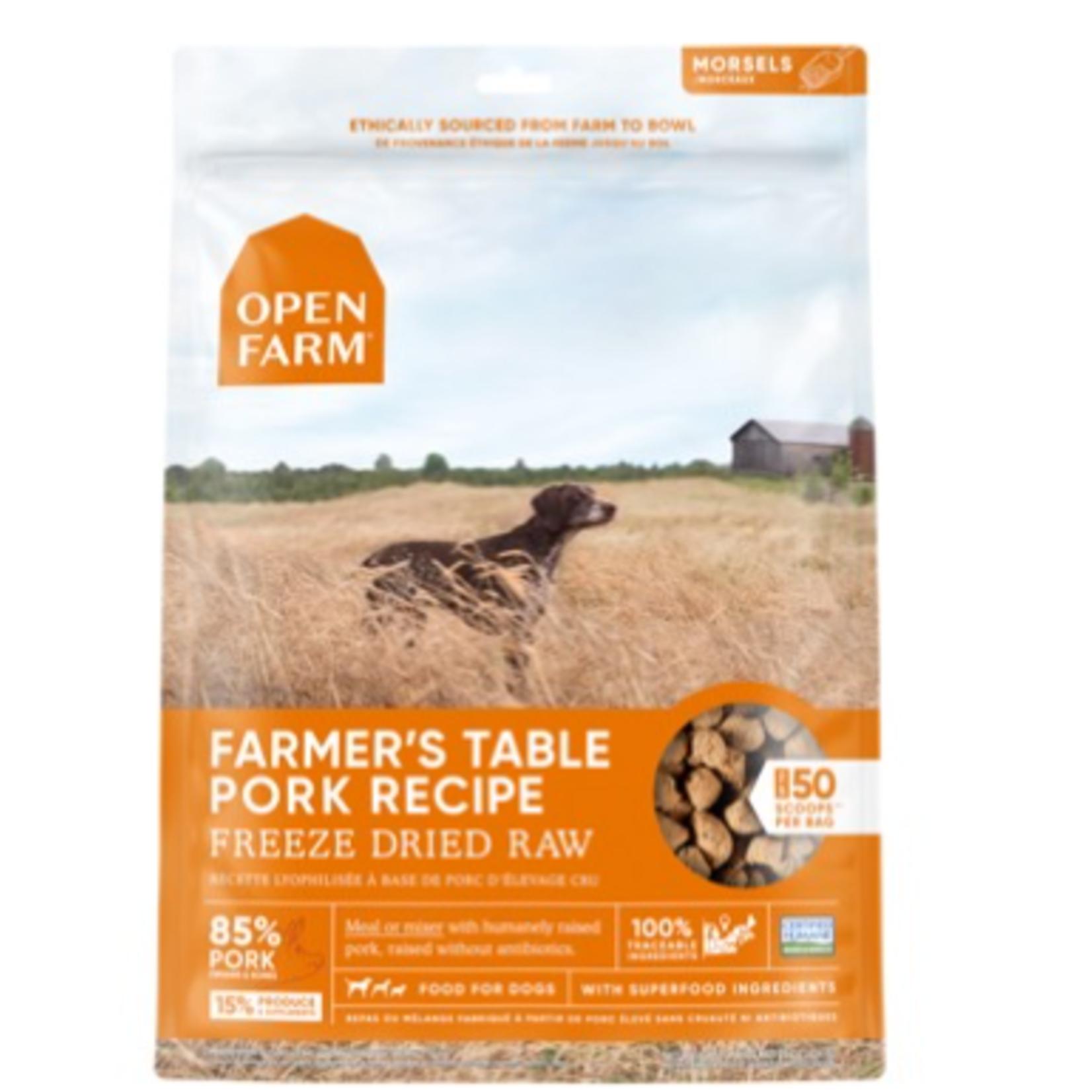 Open Farm Pork Morsels-Freeze Dry Raw-3.5 oz-Dog