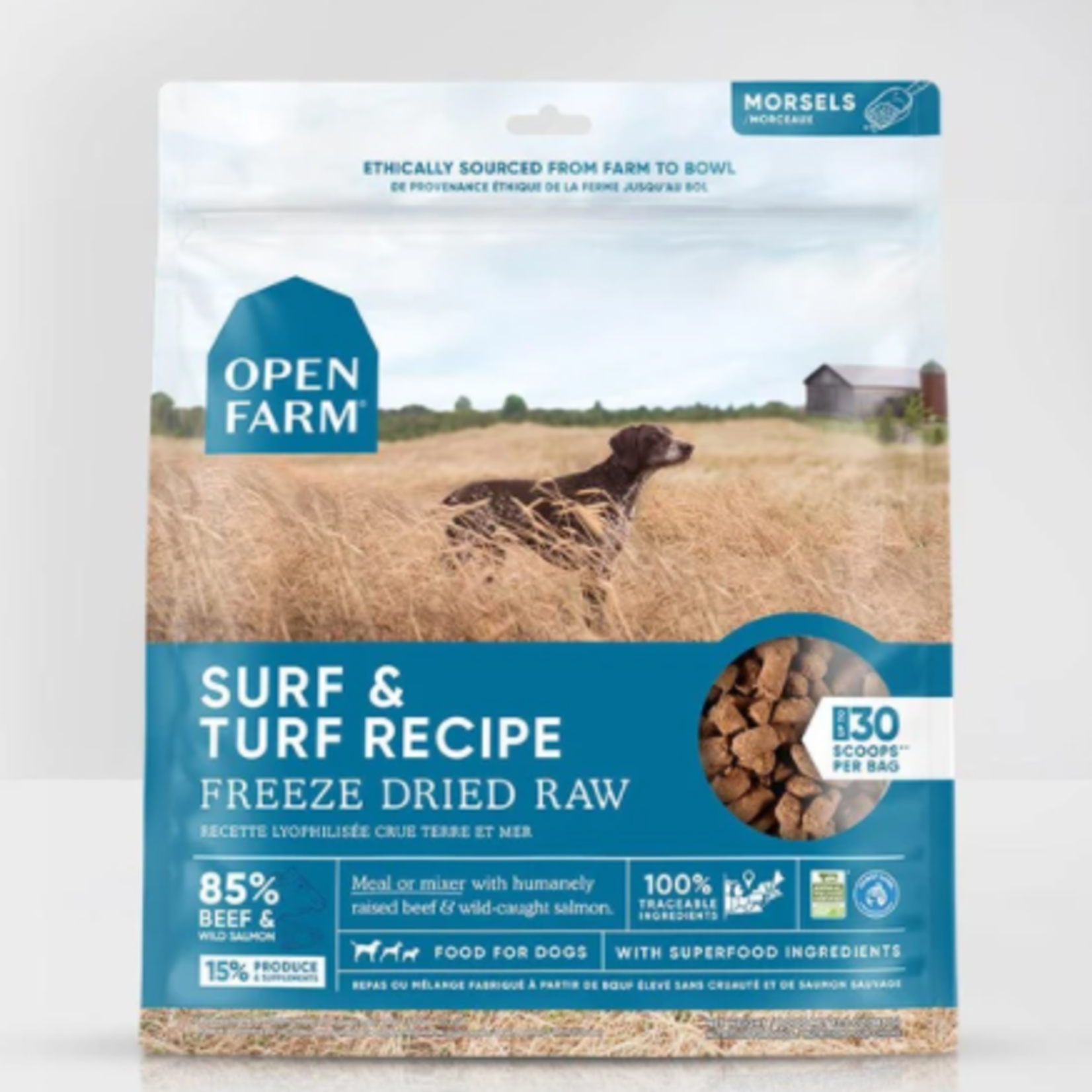 Open Farm Surf & Turf Morsels-Freeze Dry Raw-3.5 oz