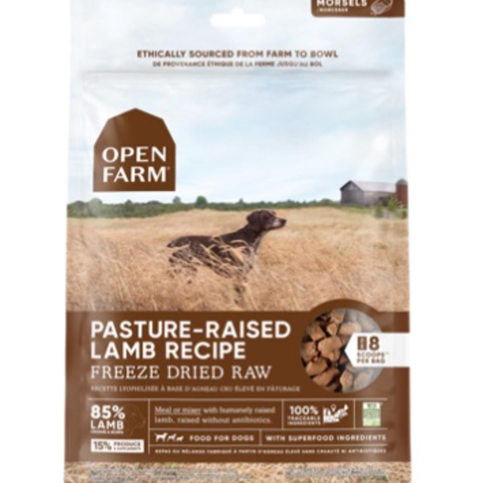 Open Farm Agneau-Cru séché è froid-13,5 oz
