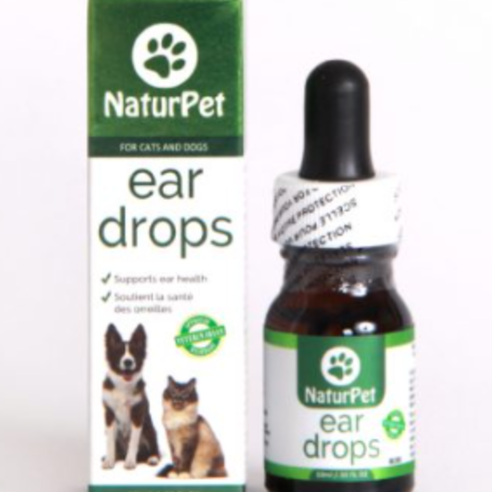 NaturPet Ear Drops for Dogs and Cats-All Natural