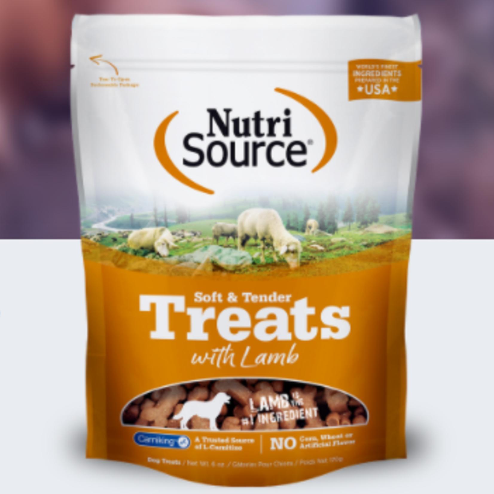 Nutri-Source Gâteries tendres et tendres à l'agneau - 6 oz