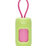 Modern Kanine Dispenser-Poop Bags-Green with Pink (20) bags