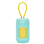 Modern Kanine Dispenser-Poop bags-Turquoise with Yellow (20) Bags
