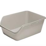 Moderna Litter box-Square Highback Tray-Jumbo-Warm Grey