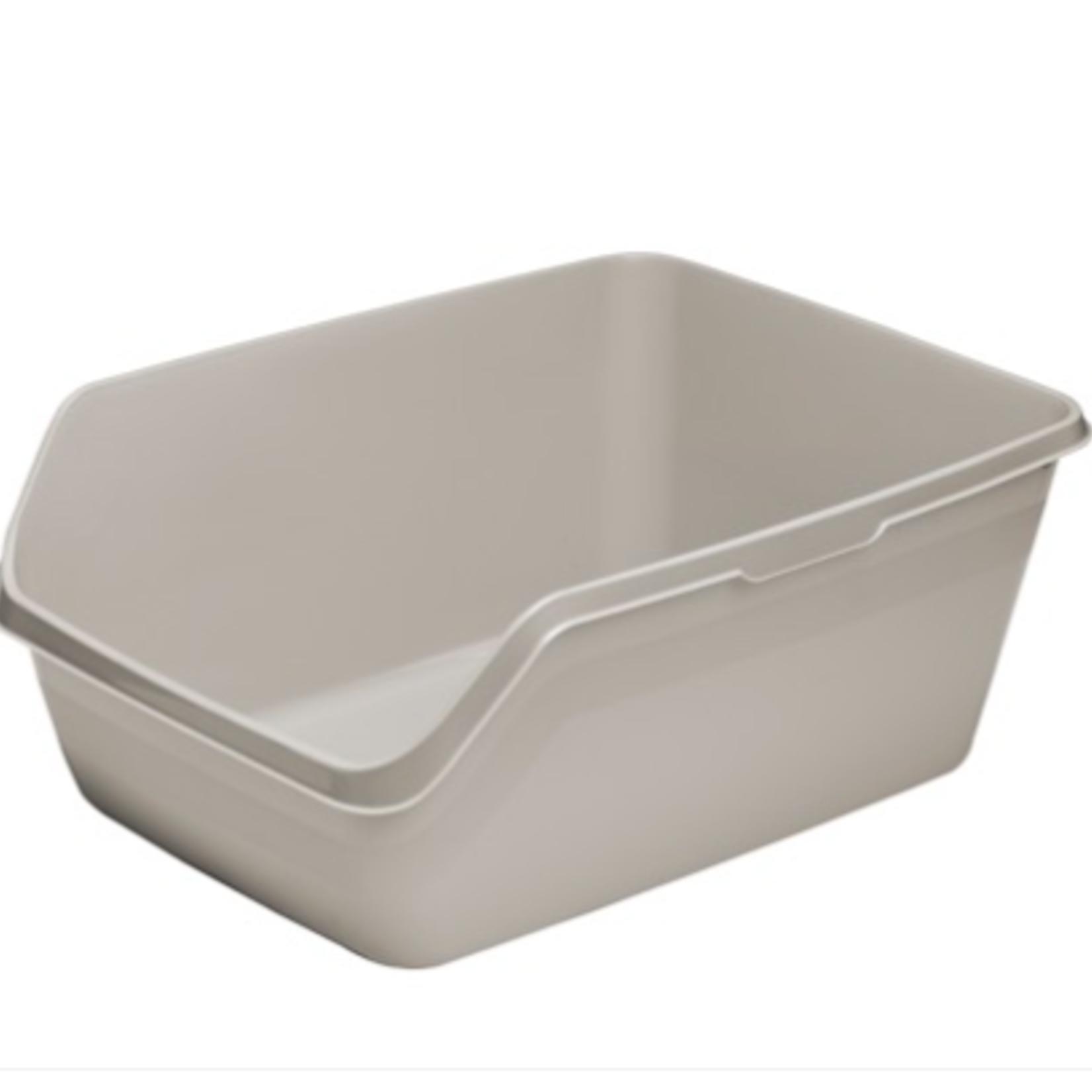 Moderna Litter box-Square Highback Tray-Large-Warm Grey