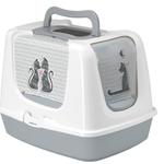Moderna Litter Box-Cat's in Love-Trendy Jumbo-Speckled Grey