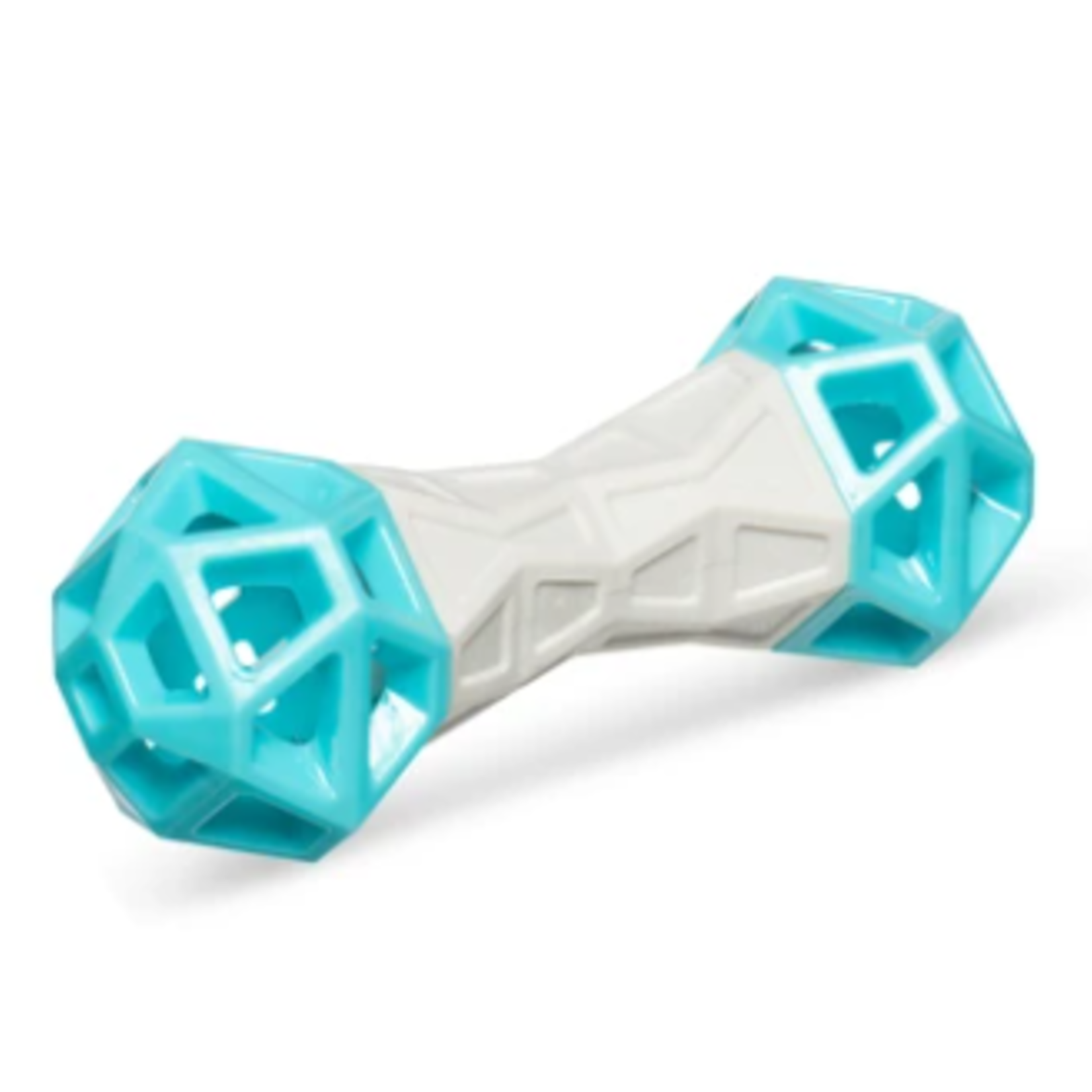 Messy Mutts Totally Pooched-Bone, 7 in-teal/grey