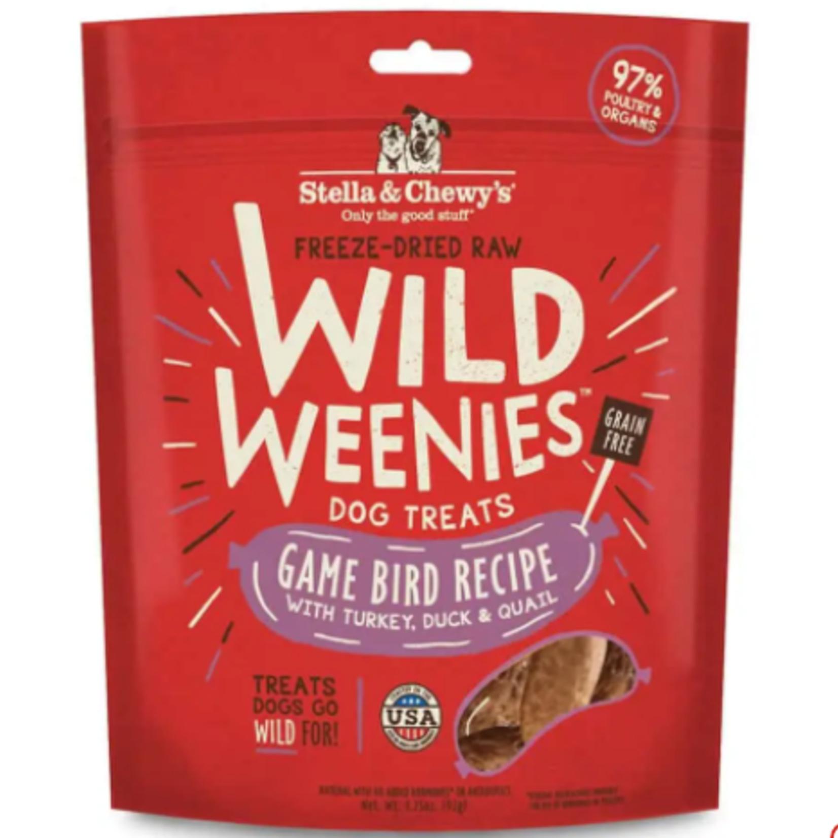 Stella & Chewy s Freeze Dry RAW-Game Bird-Wild Weenies - 3.25oz