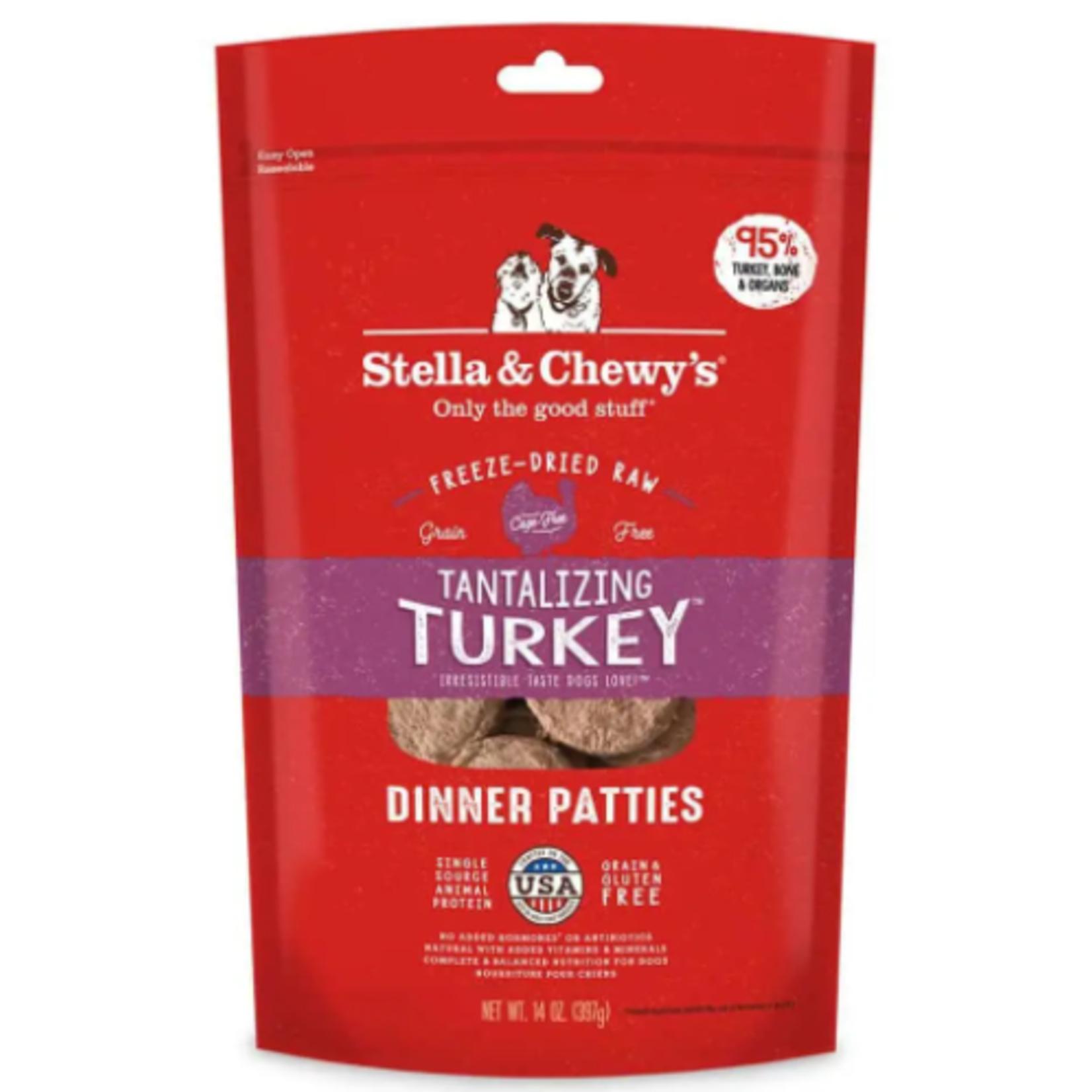 Stella & Chewy s Cru séché à froid-Dîner de galettes de dinde alléchant-5.5 oz
