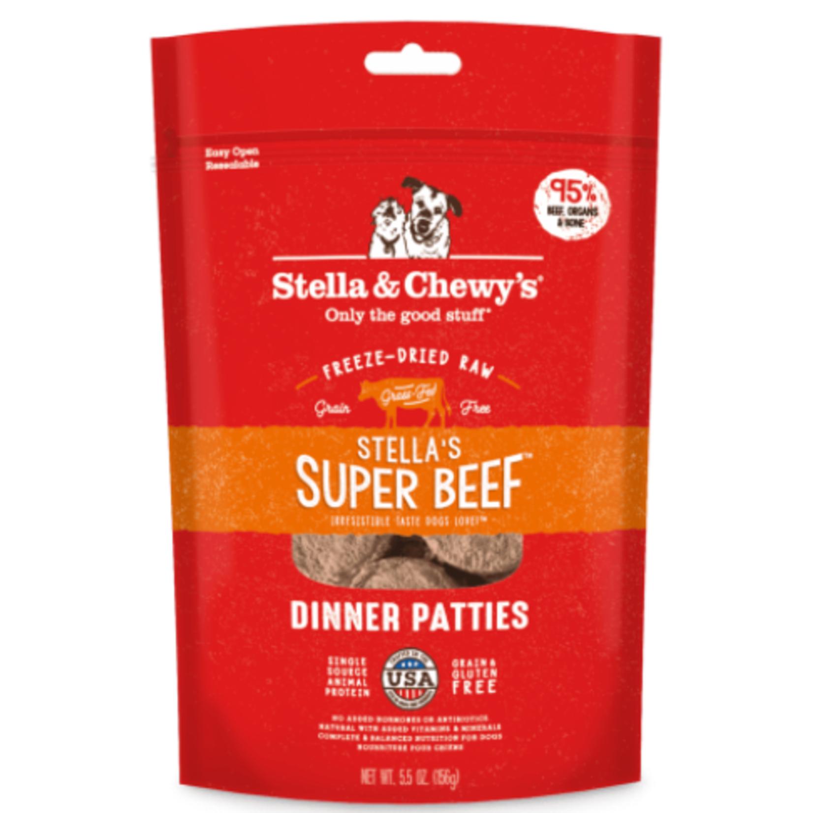 Stella & Chewy s Cru séché à froid - Galettes de dîner au Boeuf - 5.5 oz