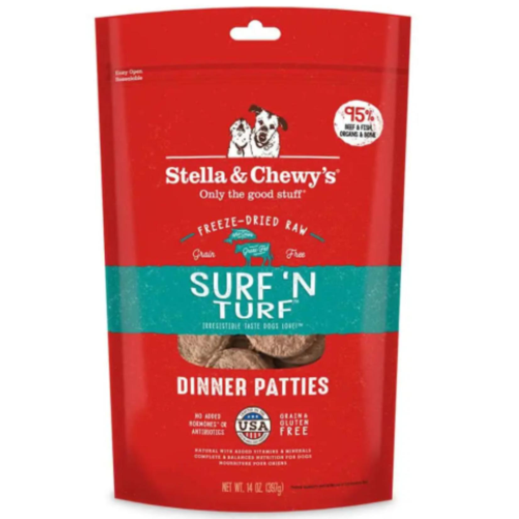 Stella & Chewy s Cru séché à froid- Galettes de dîner Surf'N Turf - 5.5 oz