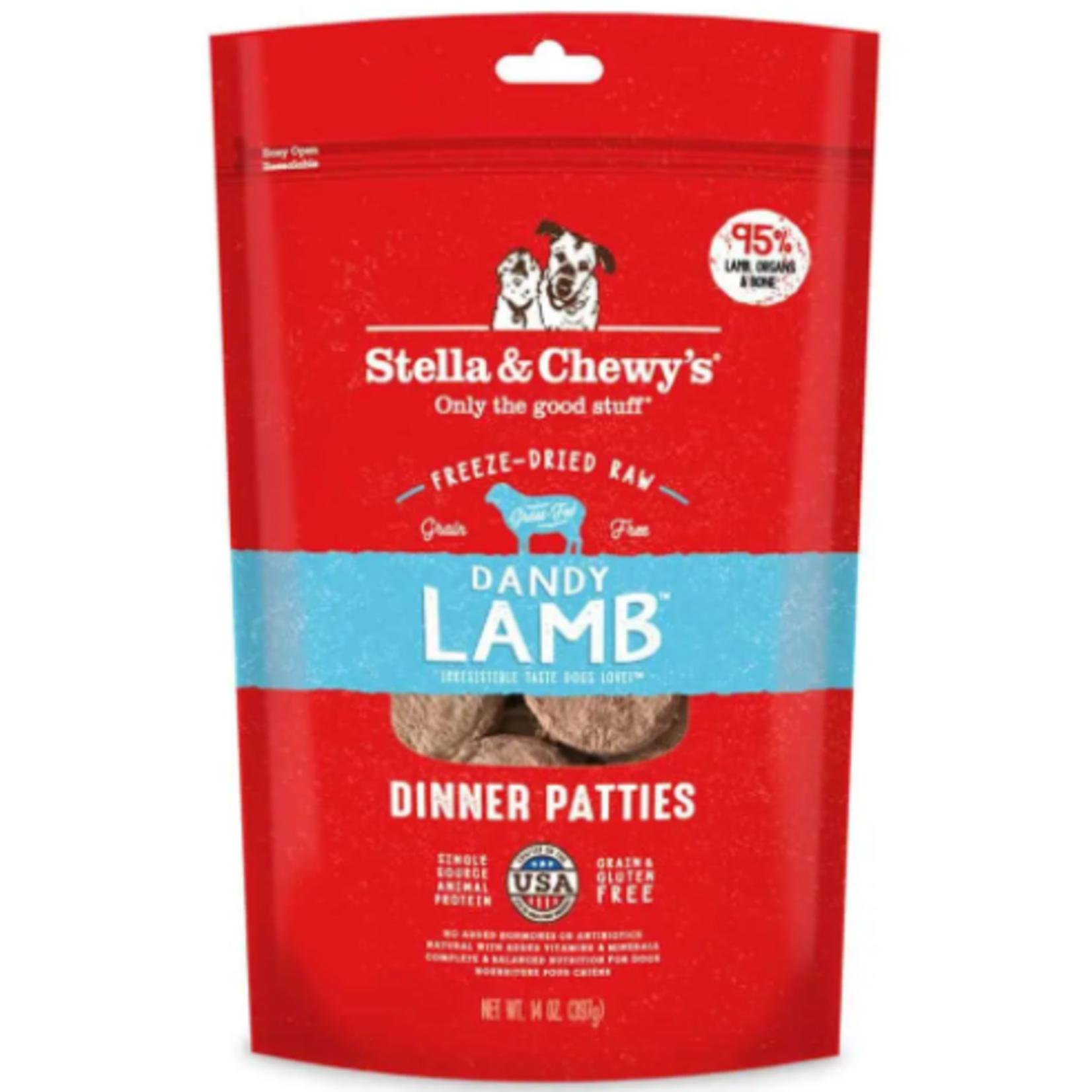 Stella & Chewy s Freeze Dry RAW - Dandy Lamb Dinner Patties - 5.5 oz