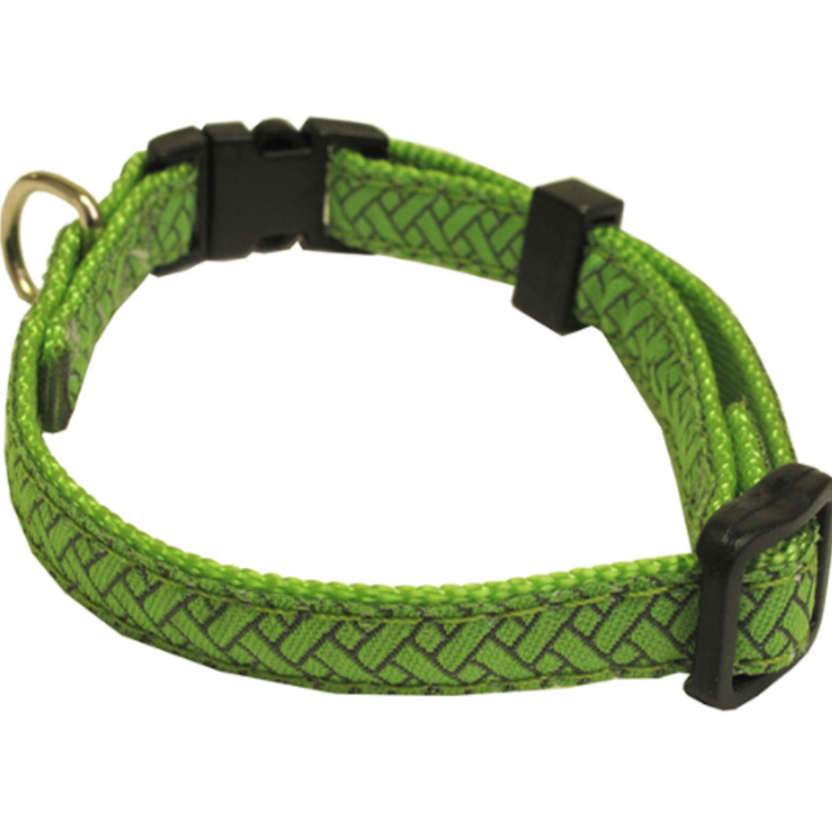 Hunter Brand Security Adjustable collar-from 6 to 9 in-Color Green Lattice