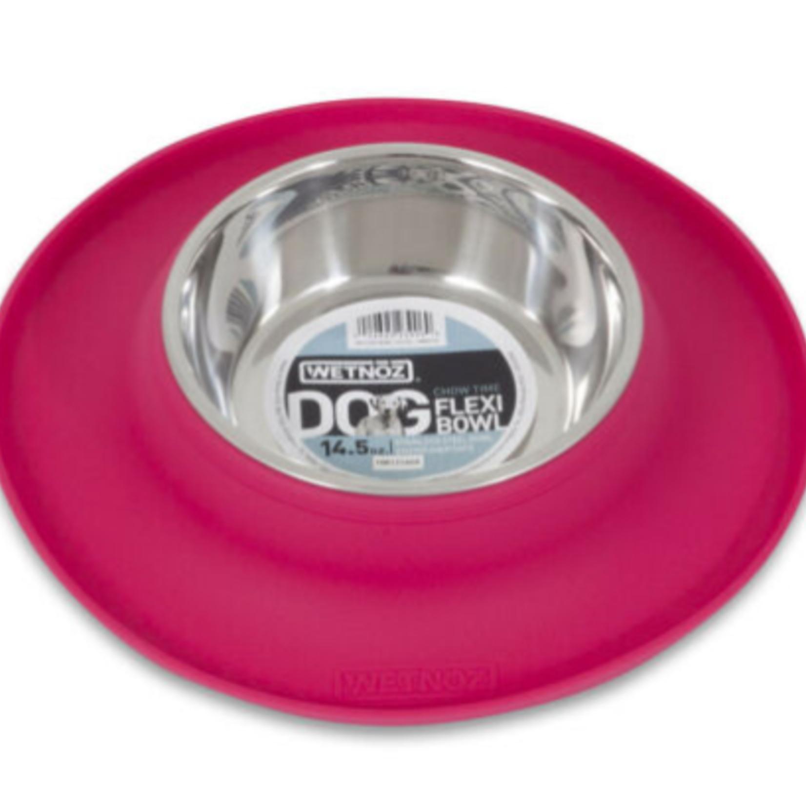 Wetnoz Flexi Bowl -14.5 oz - Silicone HIBISCUS