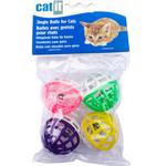 Catit Jouet pour chat Krazy Rollers - Jingle Balls - 4 pièces
