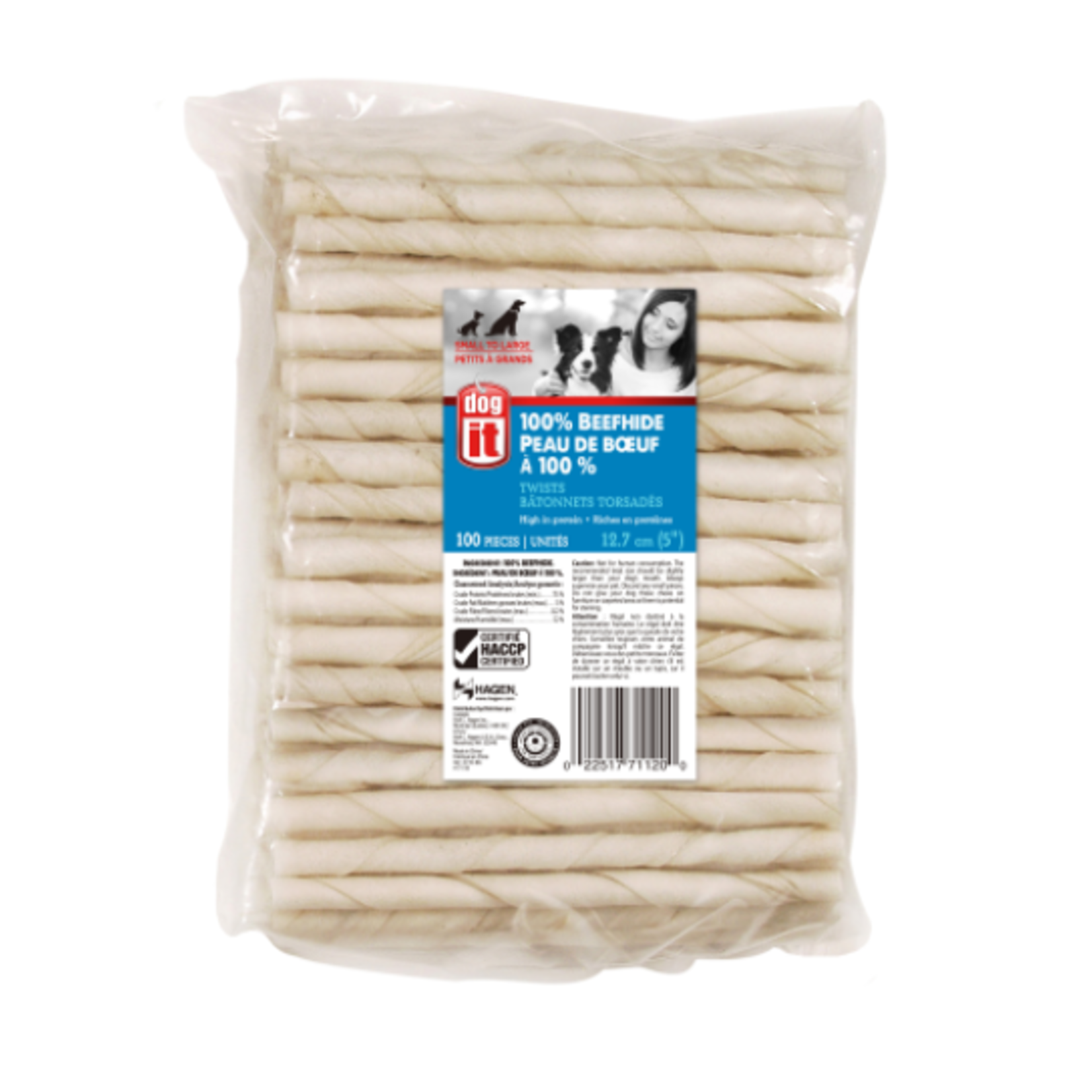 Dogit White Natural Beefhide Chew Stick, 10 mm x 12.5 cm , sold individually