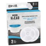Zeus Filtres pour fontaine à triple action H2EAU - paquet de 2