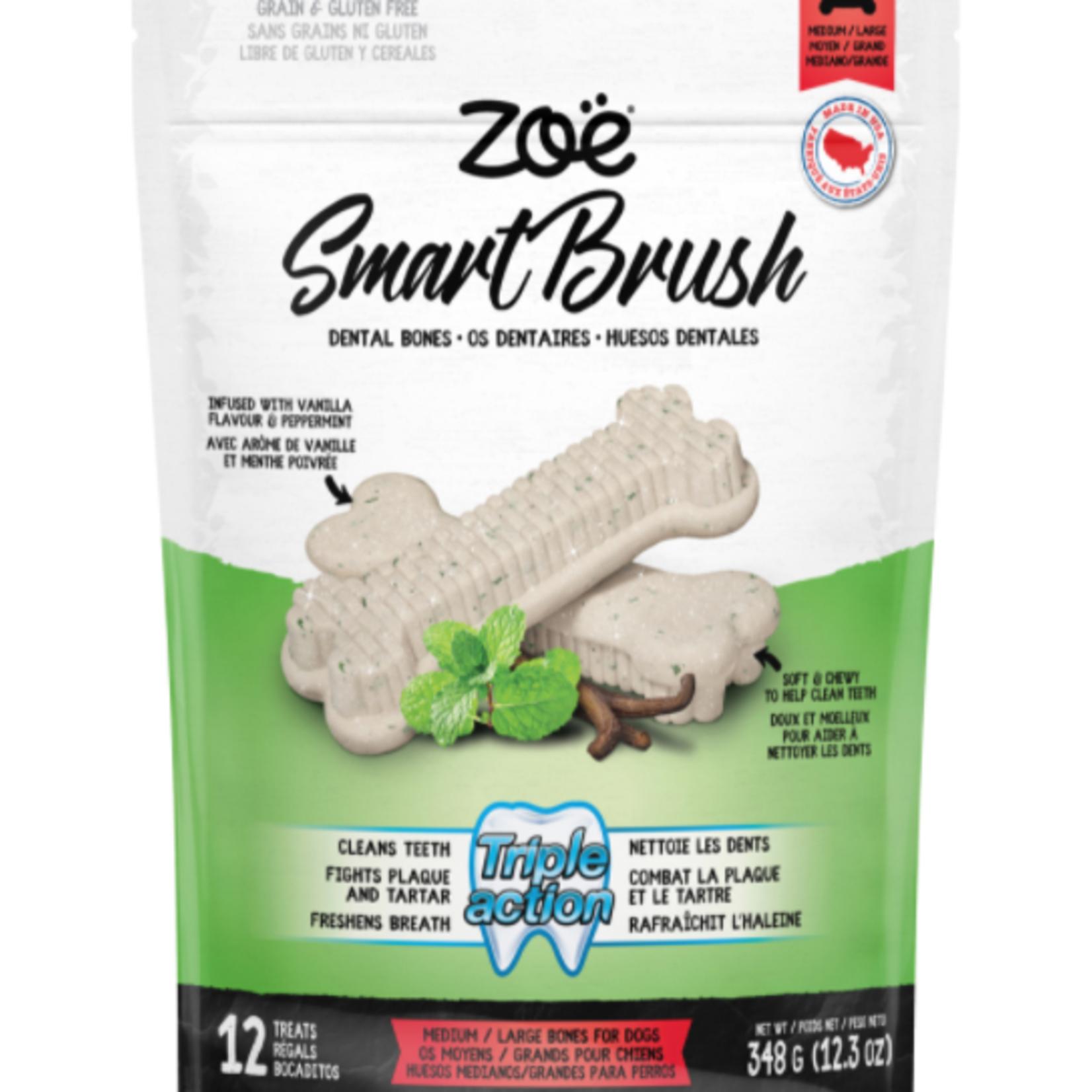 Zoe Smart Brush Bones for Dogs – Medium/Large – 12 pack – 348 g