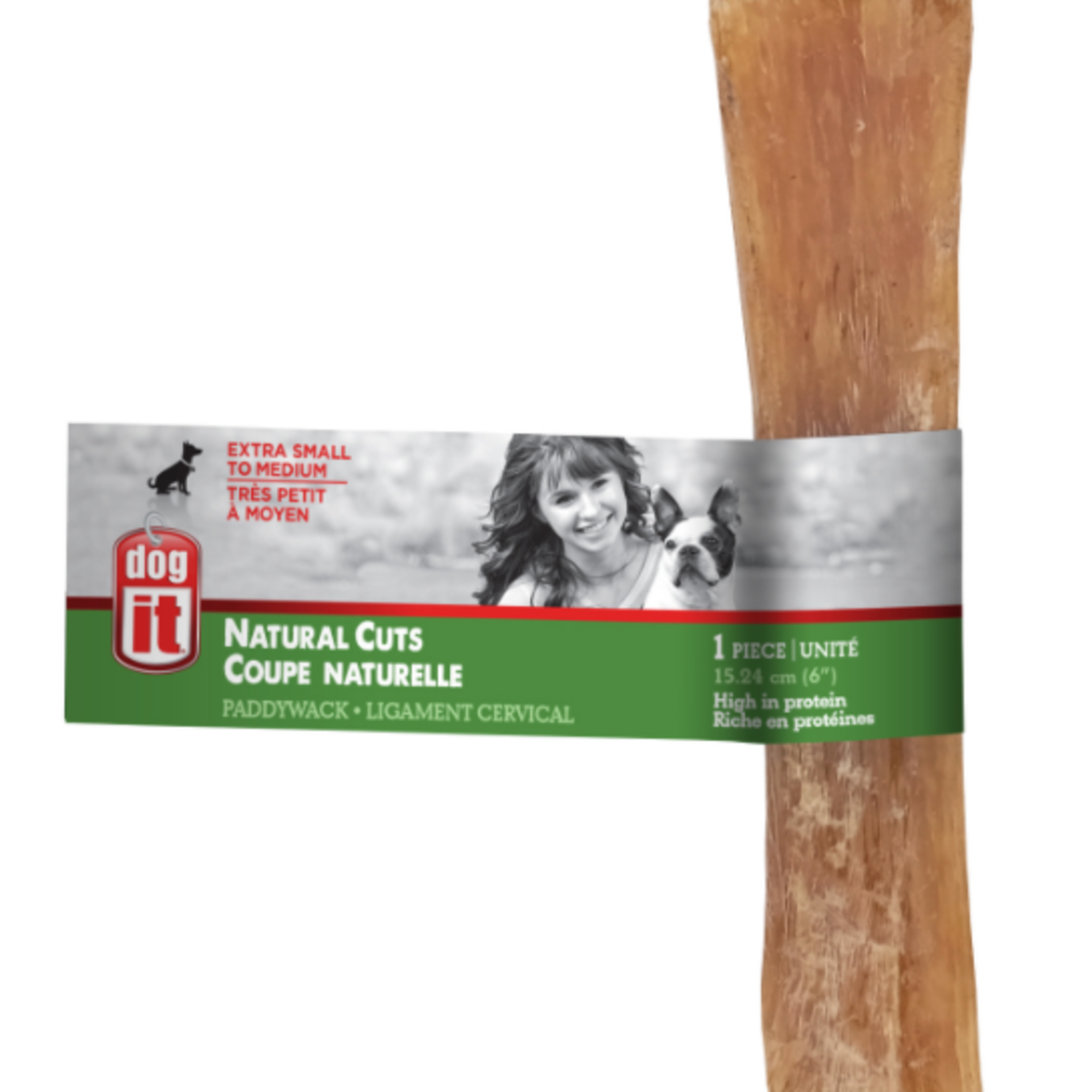 Dogit Natural Cuts Paddywack - 6 in - 1 pack