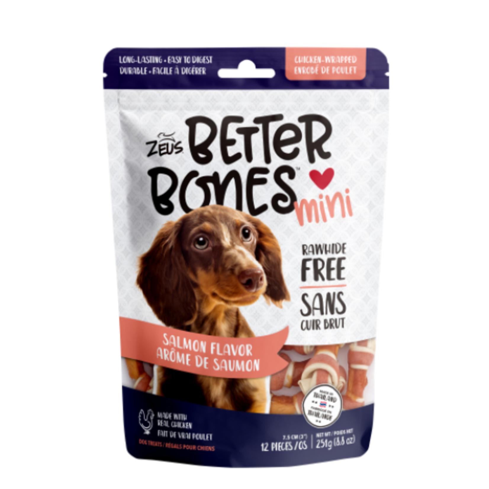 Zeus Salmon Flavor - Chicken Mini Bones - 12 pack