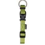 Zeus Adjustable Nylon Collar - Olive - Medium - 1.5 x 28-40 cm
