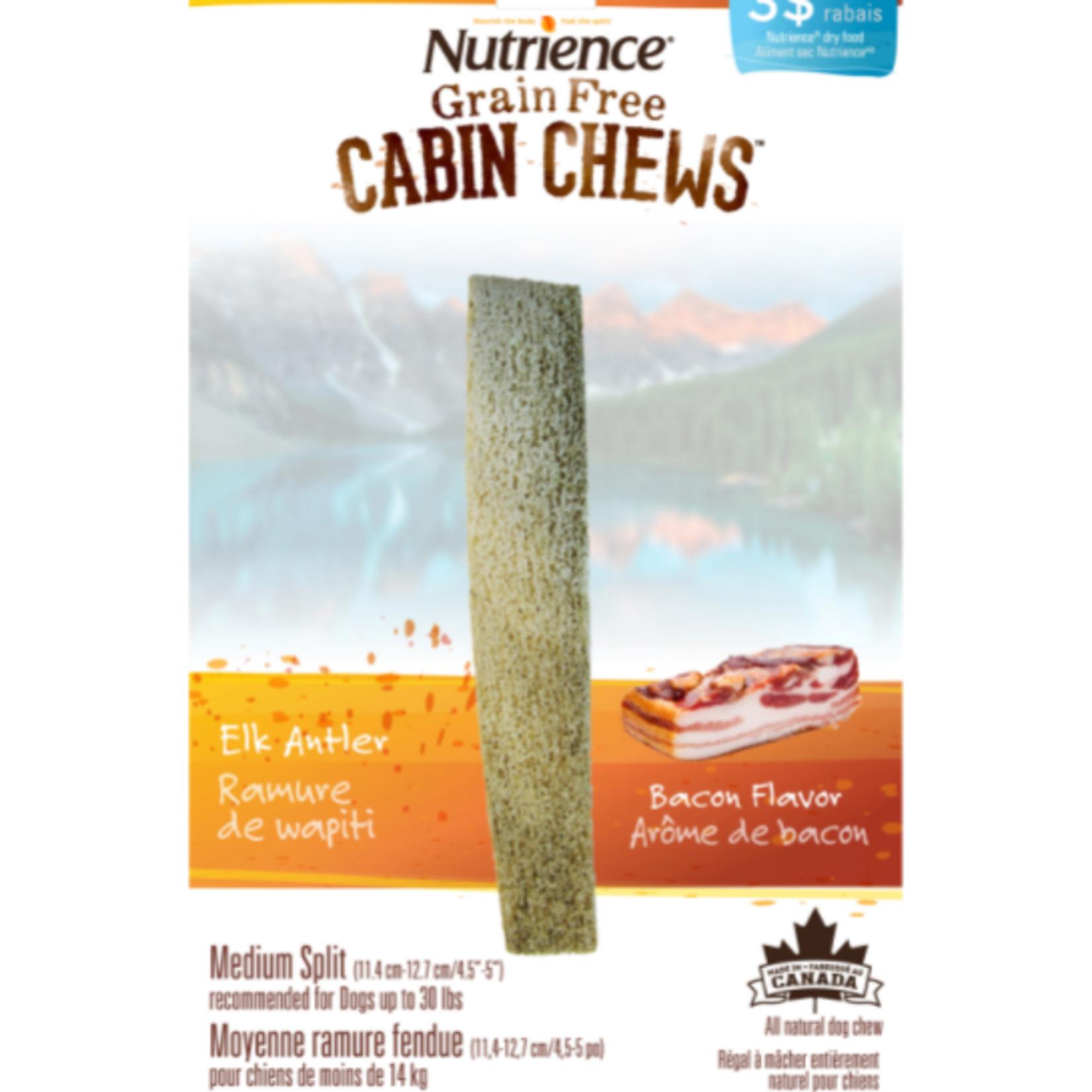 nutrience Bois de wapiti à mâcher - Medium - Bacon - 11,4-12,7 cm