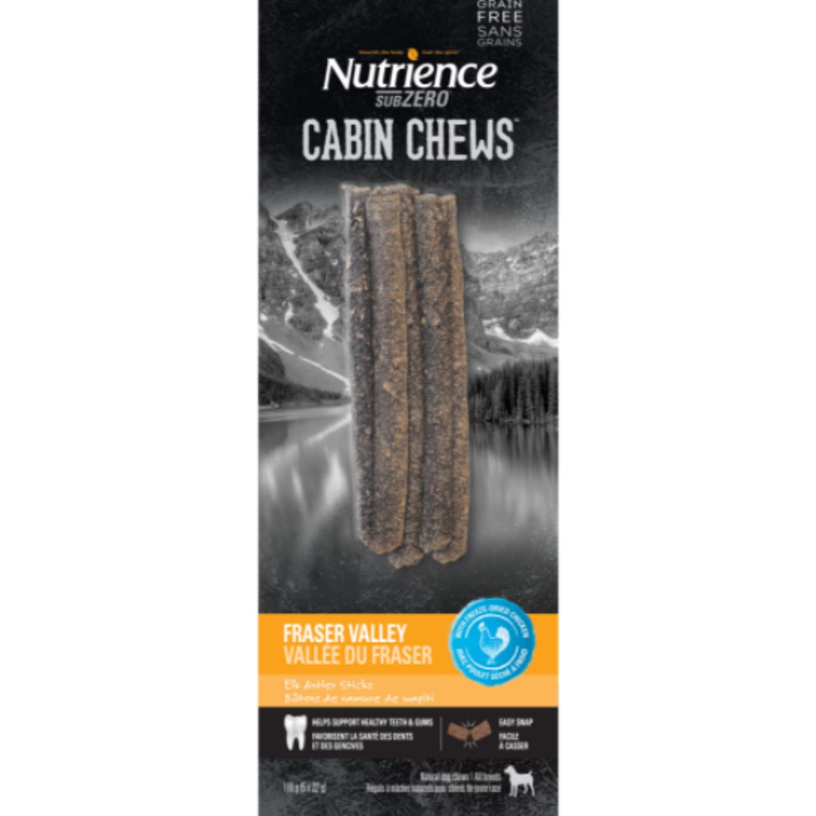 nutrience Subzero Cabin Chews Elk Antler Sticks - Fraser Valley - 5 x 22 g