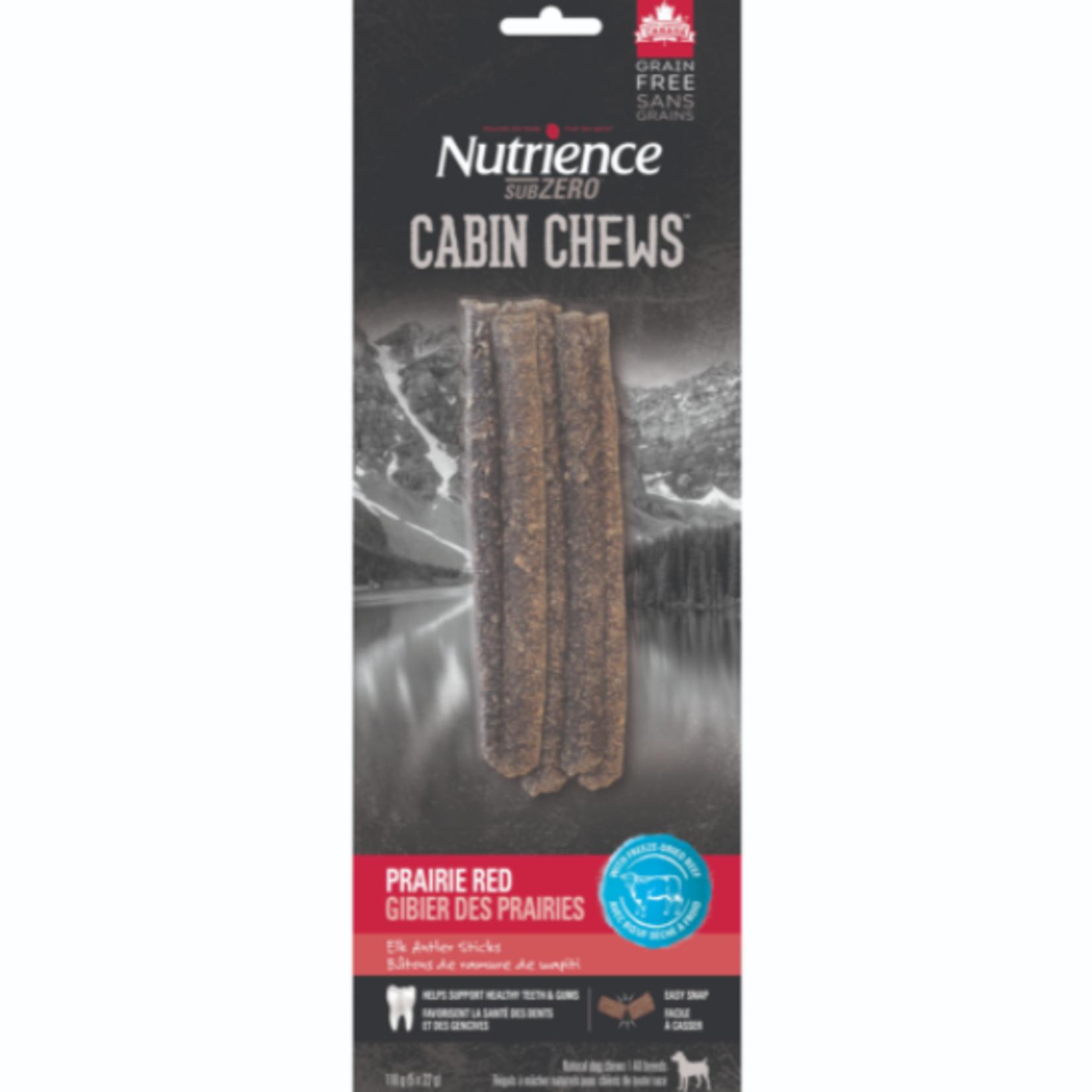 nutrience Subzero Bâtonnets de bois de wapiti à mâcher - Rouge des Prairies - 5 x 22 g