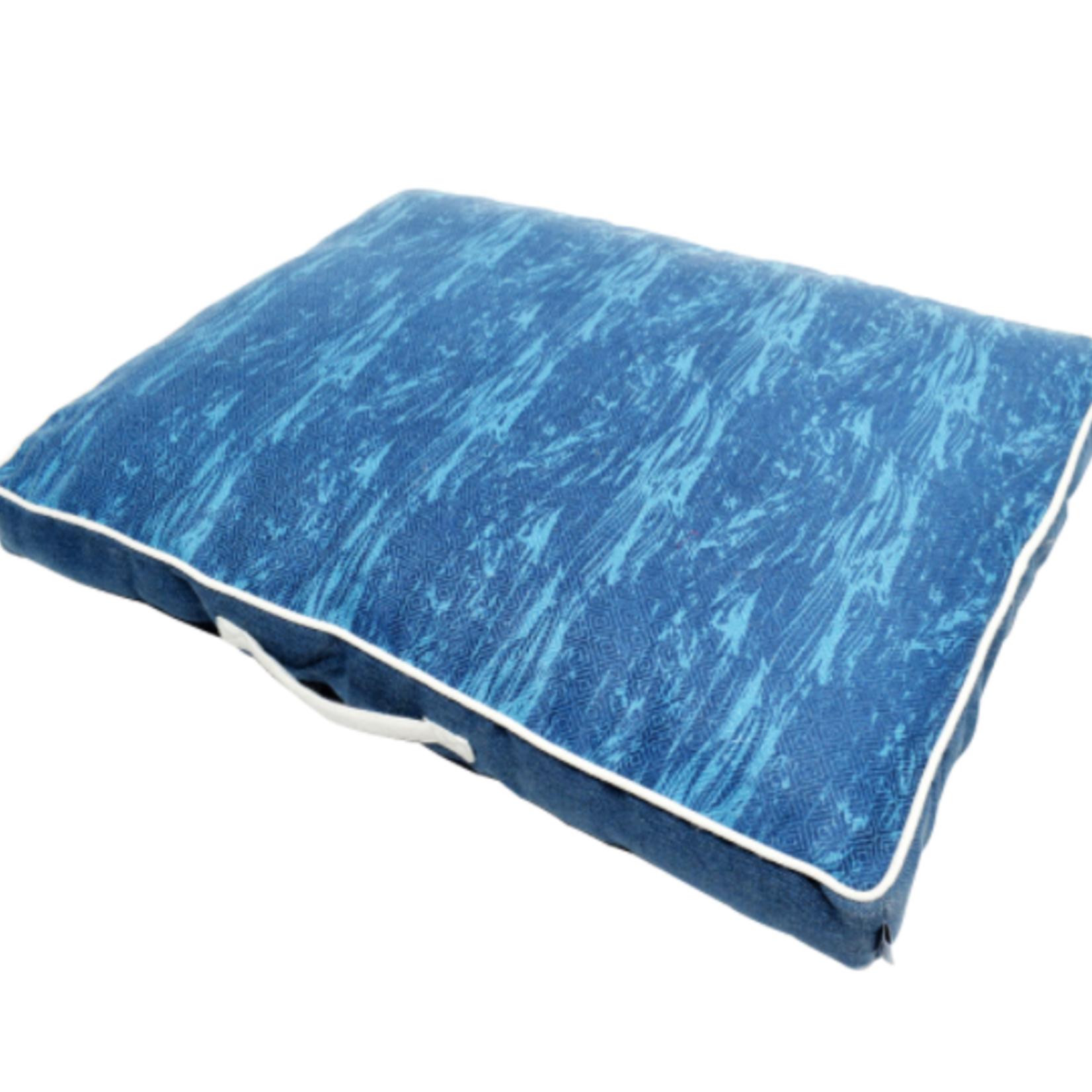 Resploot Matelas - Rectangulaire - Ocean profond - 80 x 60 x 8 cm