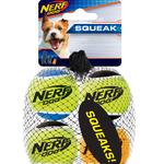 Nerf Balles de tennis Squeak - Paquet de 4 - XSmall - 4,4 cm