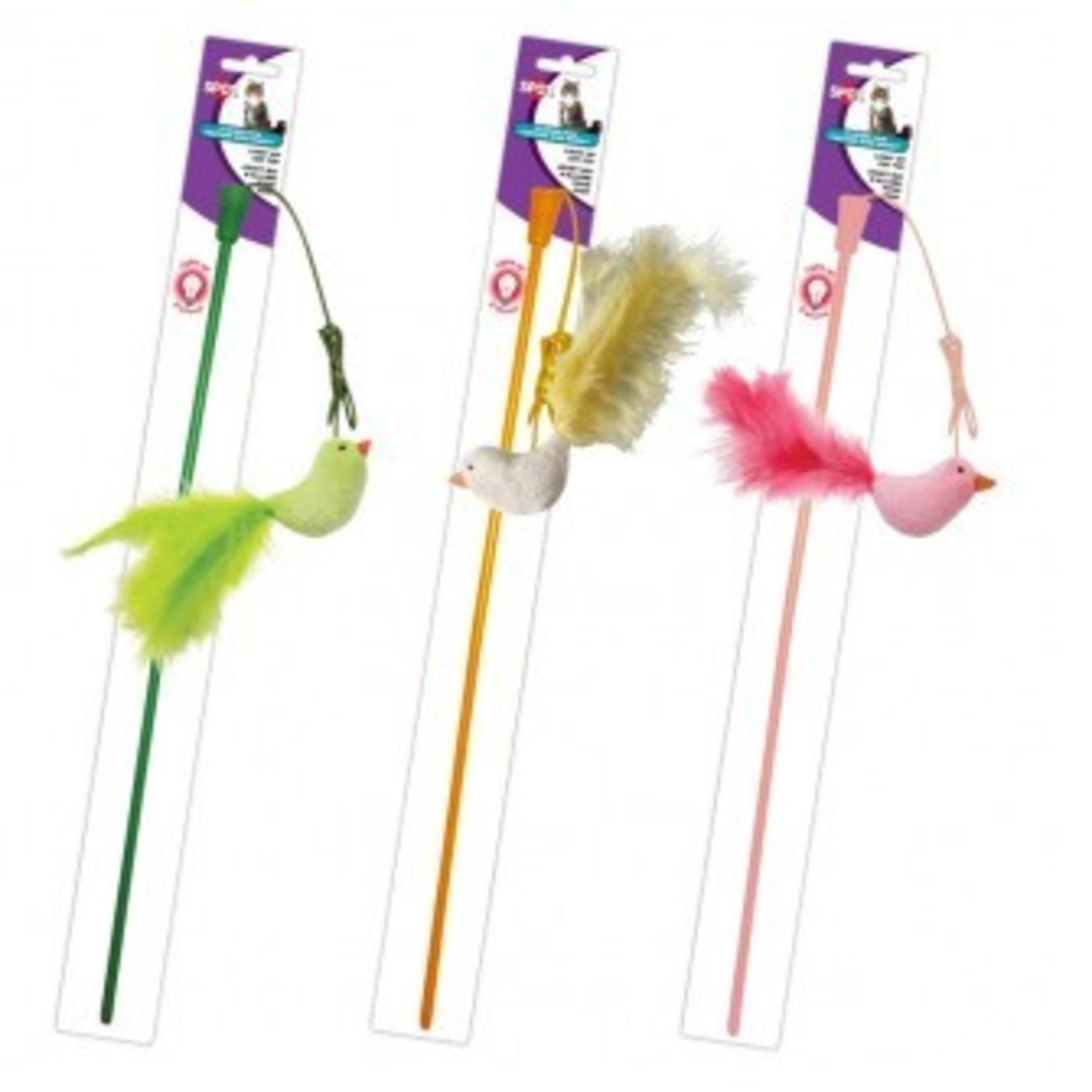 SPOT Baguette Flicker Fun - Plume d'Oiseau 15 po (vendu à l'unité)