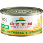 Almo Salmon and Chicken in broth - 70 g