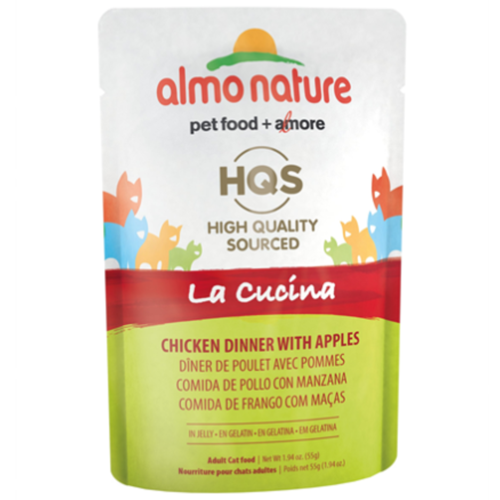Almo Chicken Dinner with Apple in Jelly-55g-La Cucina