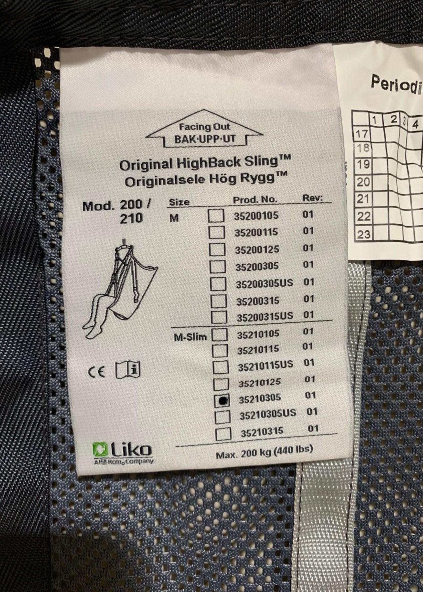 Liko Liko Original High Back Sling (Medium Slim)