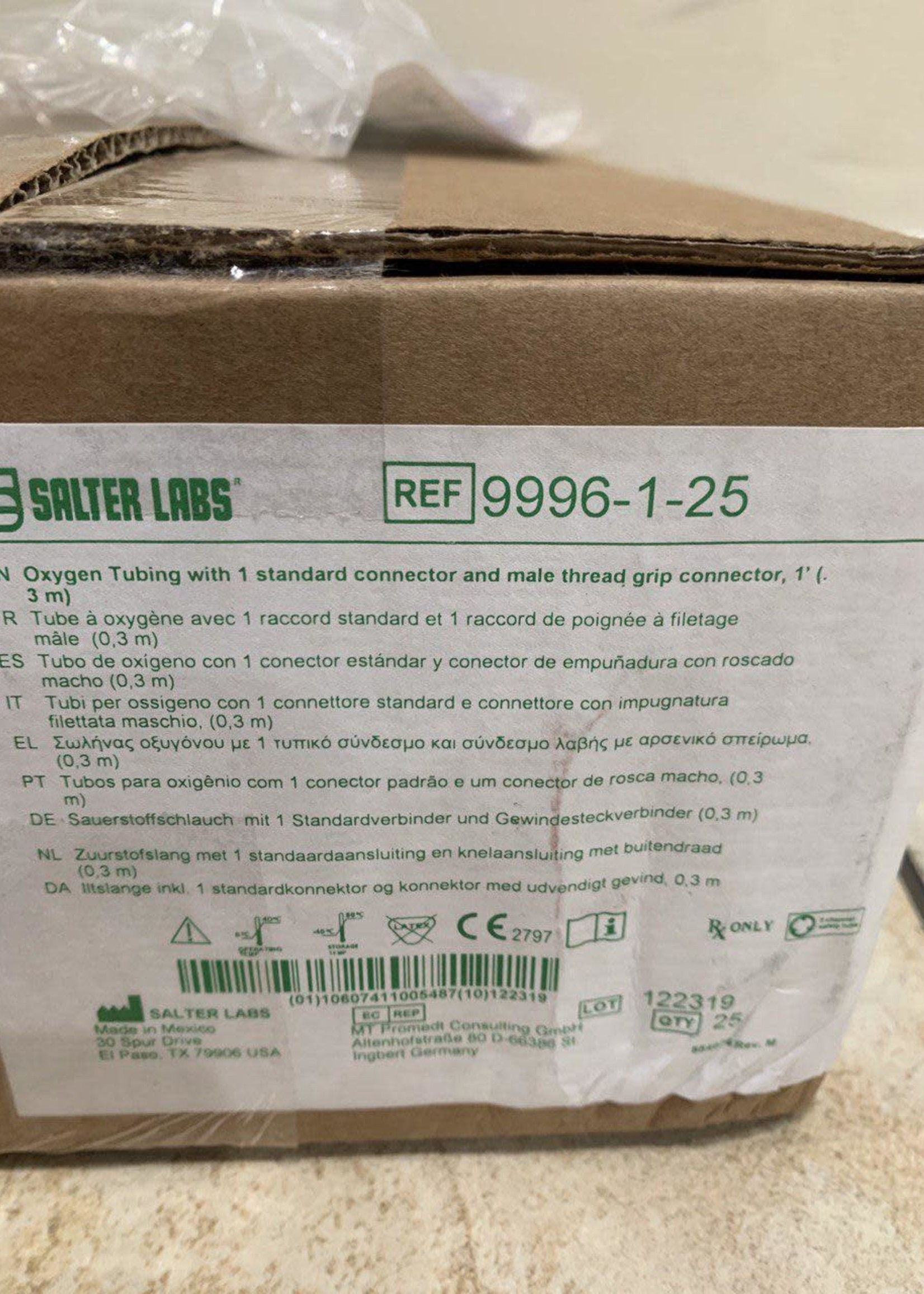 A Box of Oxygen Tubing With Connectors