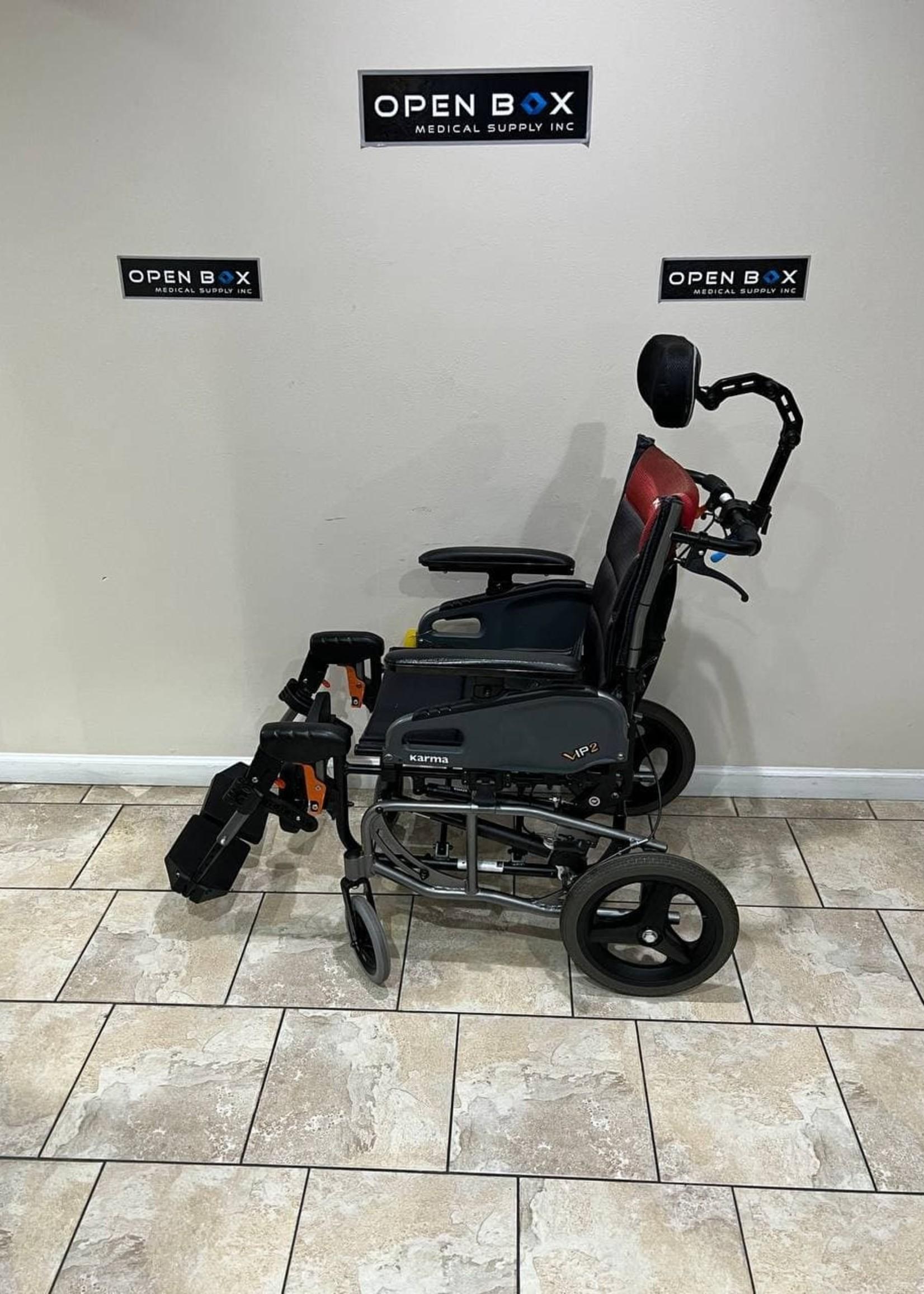 Karman Karman VIP 2 Tilt In Space Reclining Transport Wheelchair (Used)