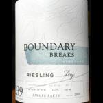 Boundary Breaks Boudary Breaks Dry Riesling  Finger Lakes, New York