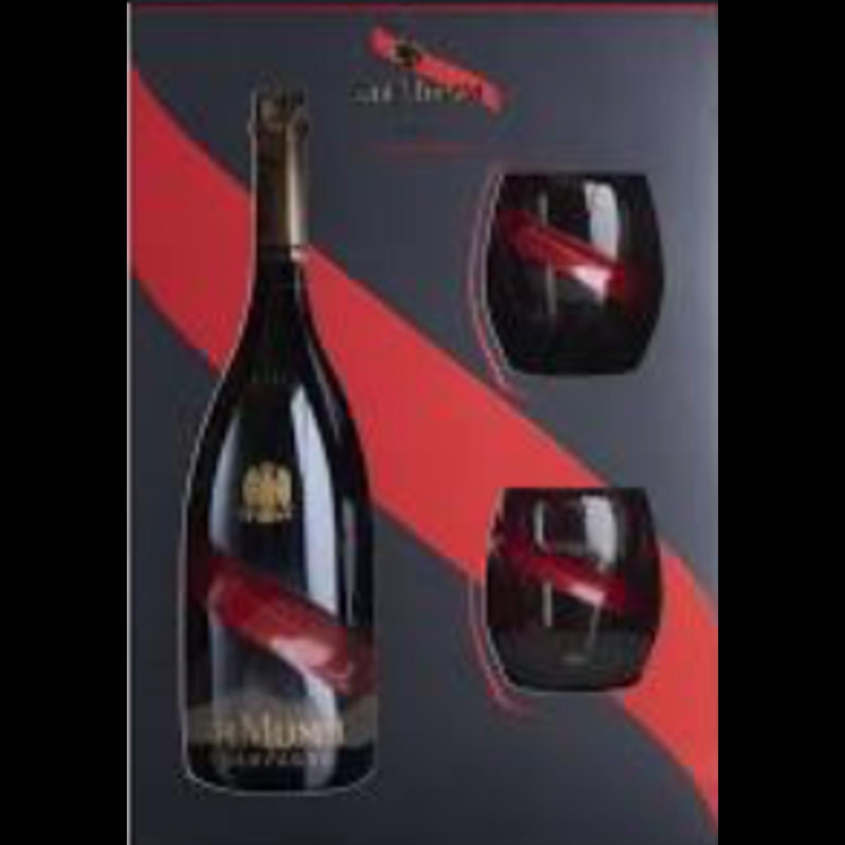 G. H. Mumm G.H. Mumm Grand Cordon Brut Champagne 2 Flute Gift Set Champagne, France 92pts-WS
