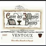 """Les Vignerons du Mont Ventoux Les Vignerons du Mont Ventoux Cotes du Ventoux """"Cuvée des 3 Messes Basses"""" Blanc 2019 Rhone, France"""
