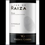 Vicente Gandia Vicente Gandia Alto De Raiza Tempranillo 2017 Rioja, Spain