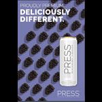 Press Press Malt Seltzer Blackberry Hibiscus  Priced Per Can