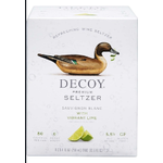 Decoy Primium Seltzer Decoy Wine Seltzer Sauvignon Blanc with Vibrant Lime, 4 Pack Cans 250ml California